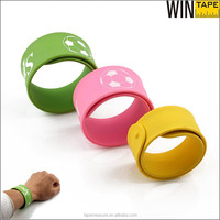 Hot Sale sport silicone stretch personalized slap armband