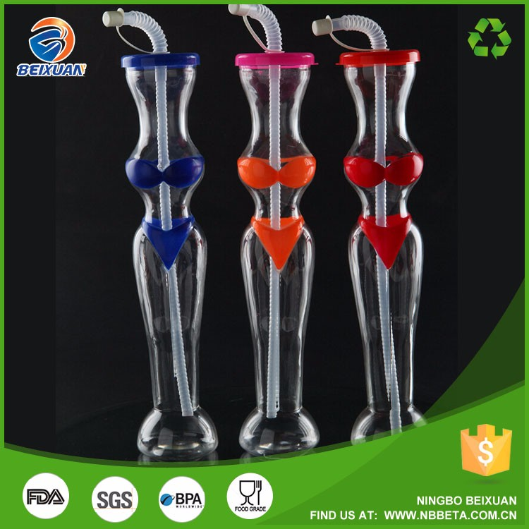 600ml PET bottle for water Yard cup Bikini Yard slush bottle
