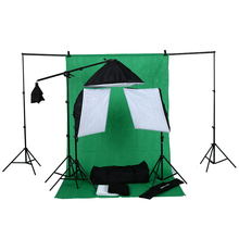 whole photographic accessories with light stand, Backdrops, softbox, boom arm Soft light Umbrella photography equipment set kit