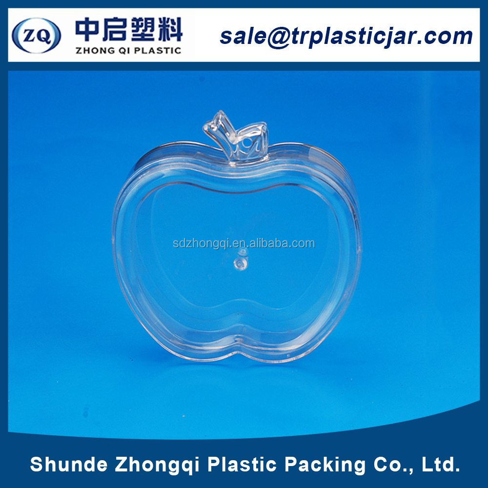 Volume supply 80ml apple shape PS plastic box,80ml apple shape chocolate candy container