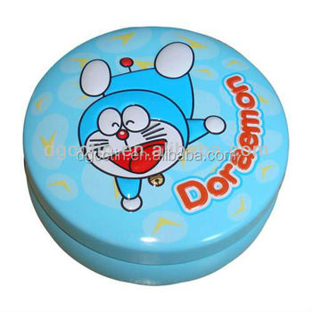 CMYK full color printing 2-piece round candy tin can mini tin box wholesale