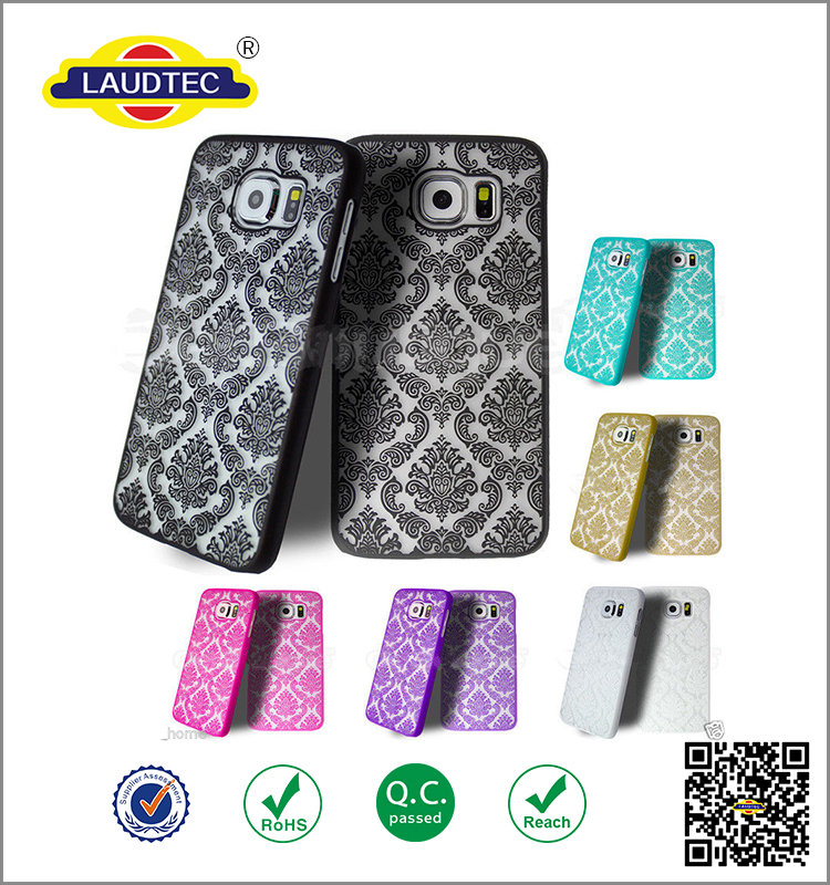 2016 new Arrivals Back Cover Damask Vintage Flower Pattern Phone Case for Samsung S7 edge