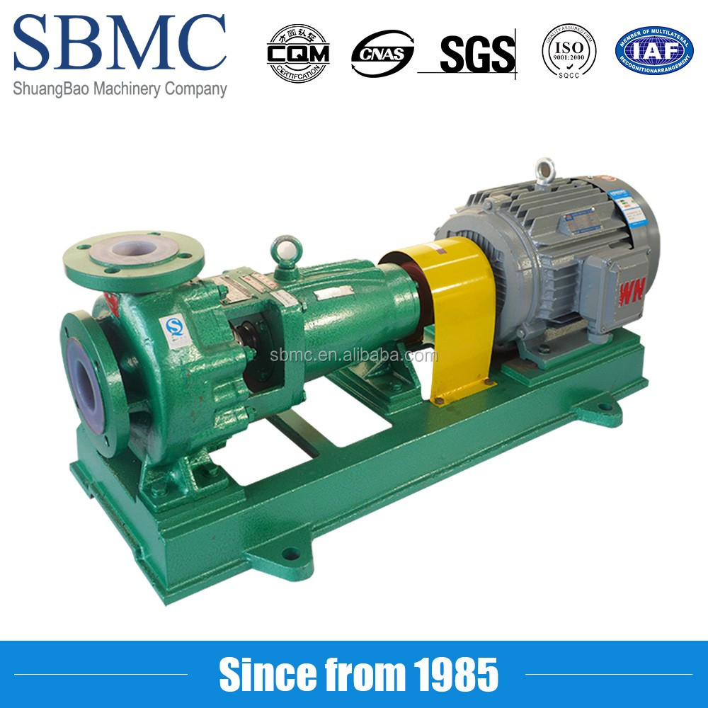 Chemical plant high pressure pipe pressure test pump transfer