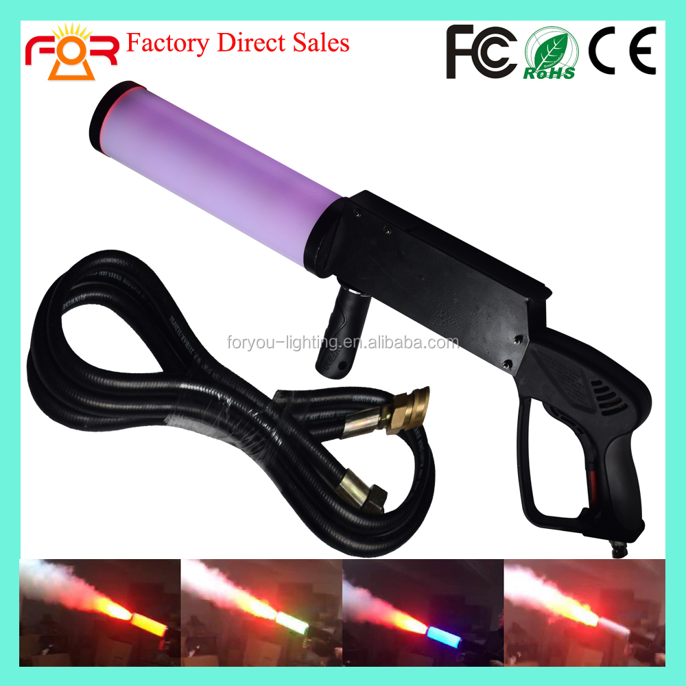 Three Years Warranty LED CO2 Cannon Cryo Special Effect CO2 Jet Cannon Fog Machine RGB 4*3w LED CO2 Gun