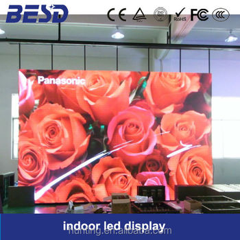Top quality electronic China p4 led display indoor full color led tv advertising display