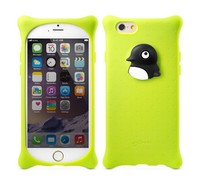 New arrival 3d Penguin Deep Duck Animal silicone phone case, custom design and hot selling animal silicone phone case