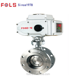 IS05211 platform stainless flange butterfly valve with mini electric actuator