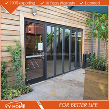 YY Home low price laminated glass aluminum folding door for restaurant with high-quality handware