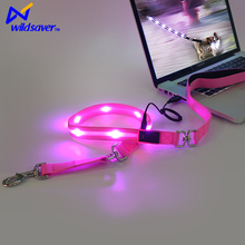 Dongguan waterproof led safety lighted nylon dog pet collars &leash