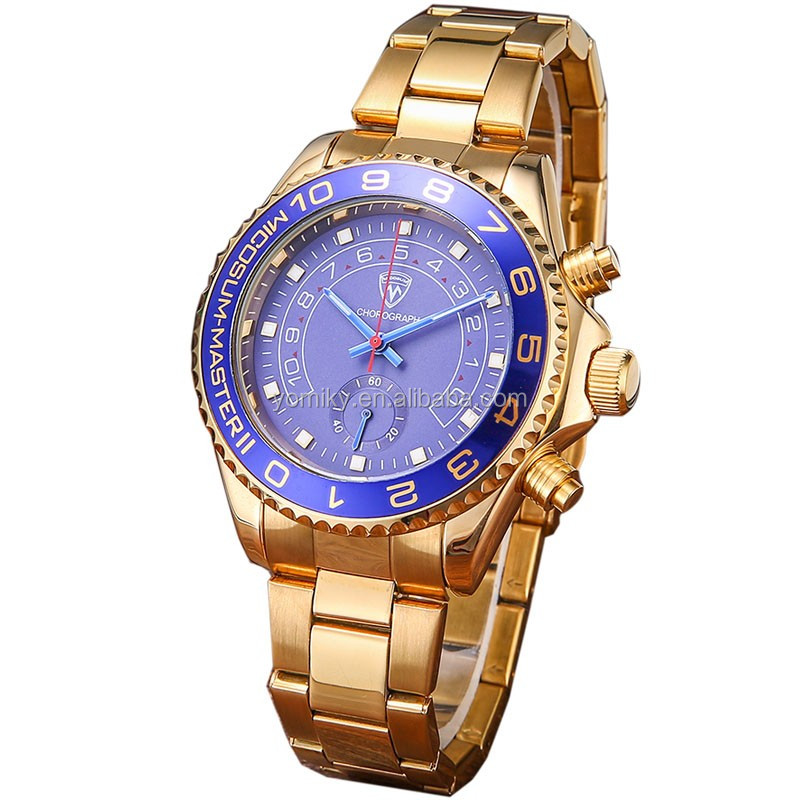 High quality water resistant men quartz chronograph vogue watch