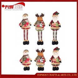 2015 New Product Christmas Decorations extension standing Toys - Plush Santa Claus , Snowman And Christmas Deer