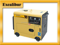 Electric Start 4.5kw enclosed Air-cooled Silent diesel generator