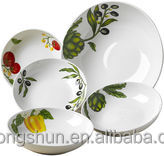 Bowls and plates,ceramic soup bowl with spoon & plate,pizza warming plate