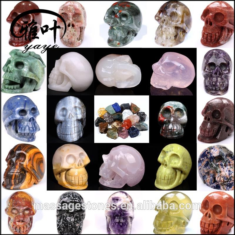 Wholesale New design Antique skull stone carving