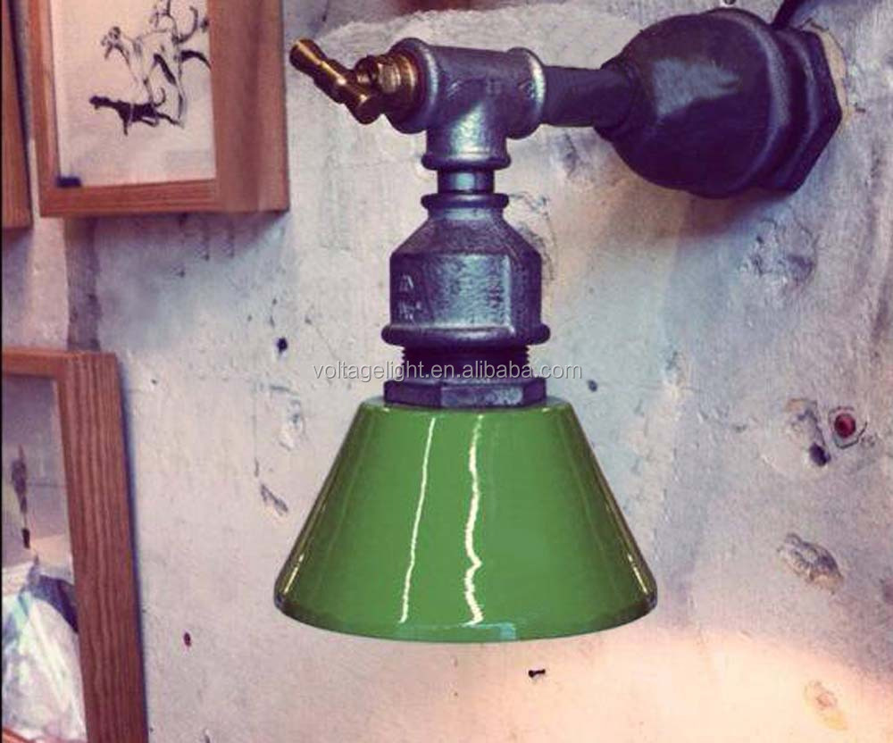 Decorative Industrial Vintage Wall Lamp Water Pipe Tap Switch With ...