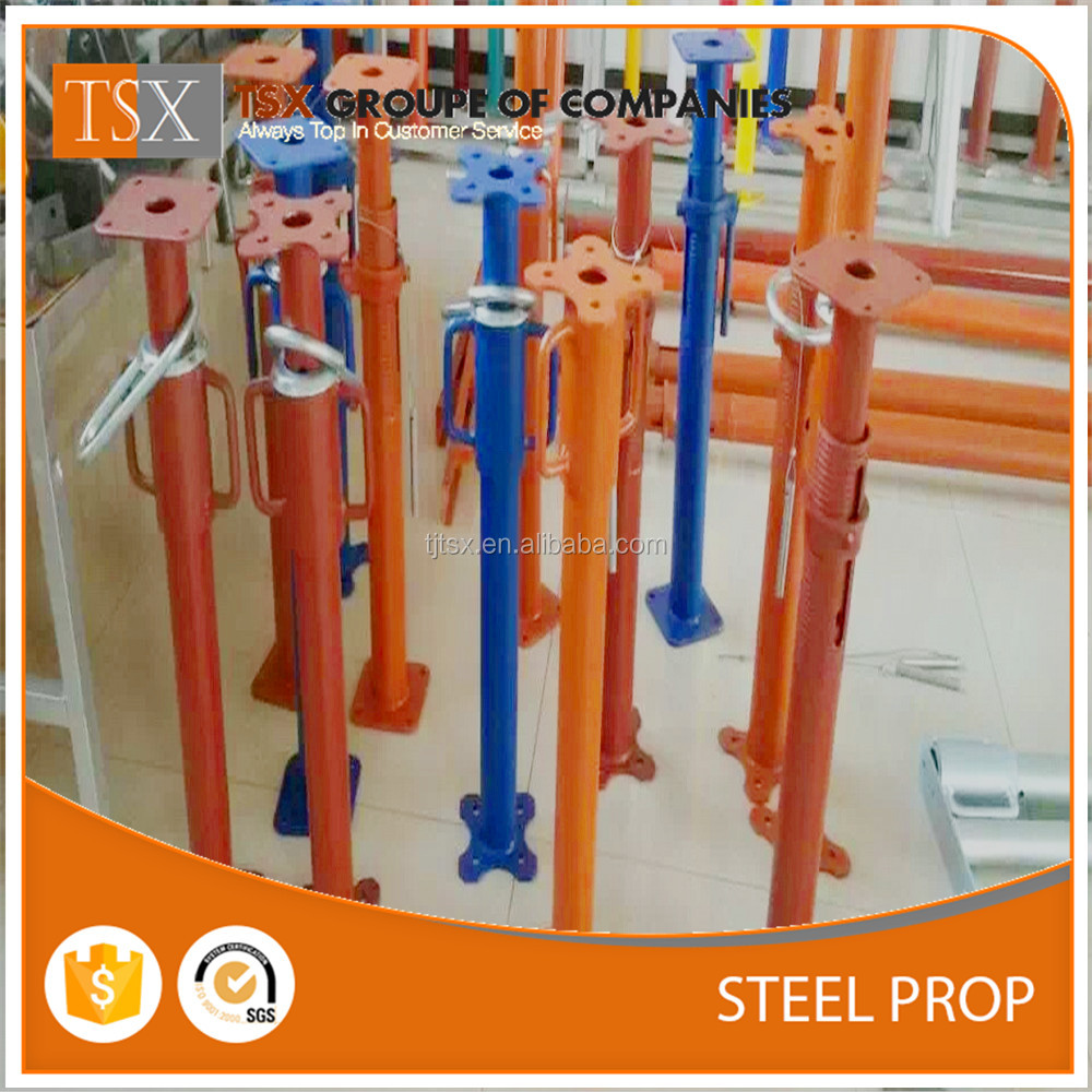 Tianjin Factory from China TSX-SP1607969 Adjustable Props steel pipe support concrete Scaffolding size