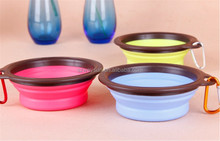 Pet Dog Cat Bowl Puppy Drinking 3 Colors Feeding Water Feeder Travel Bowl Dish
