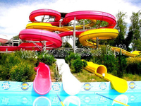 Aqua looping large party water slides