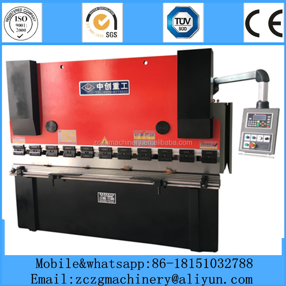 CNC control hydraulic plate press brake,sheet iron bending machine WC67K-160T/2500 with E10 digital display