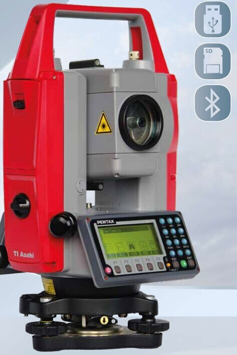 Pentax R-1505N Best Total Station with Bluetooth and SD card
