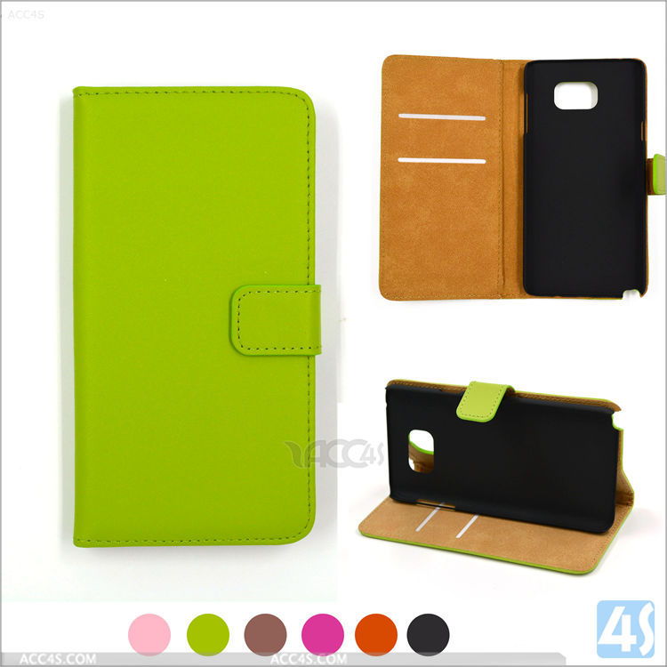Beautiful green flip wallet case cover for Samsung Galaxy Note 5