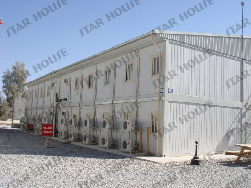 prefabricated civil economic flat pack living container house