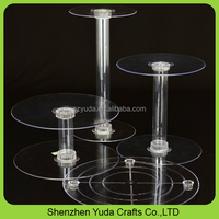 Circle Clear Acrylic Cupcake Display Holder Perspex Wedding Cake Stand