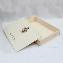 Unfinished wooden boxes wholesale customized solid wood gift packaging box tea cigar storage box