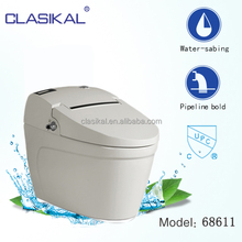 68611 American standard bathroom sanitary ware one piece electronic auto washing toilet