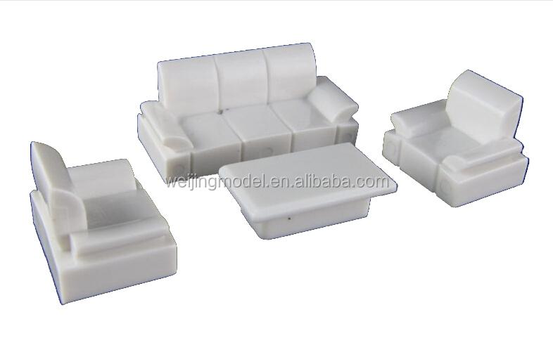 Architectural plastic scale model white furniture for 1 50 for Scale model furniture