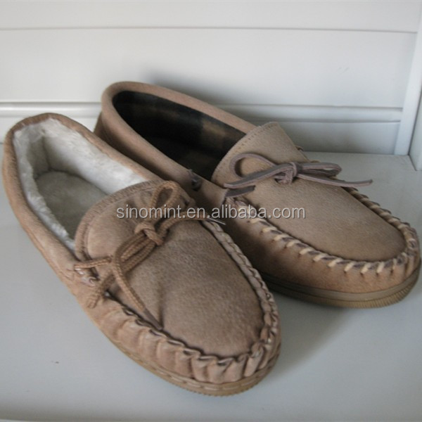 2015 classical style mens moccasins with elk leather sole
