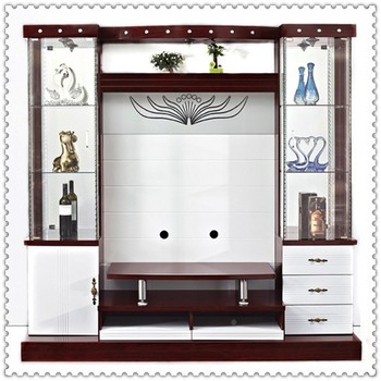 Wooden Design 80 Inch Modern Lcd Tv Wall Unit 9904 Tv