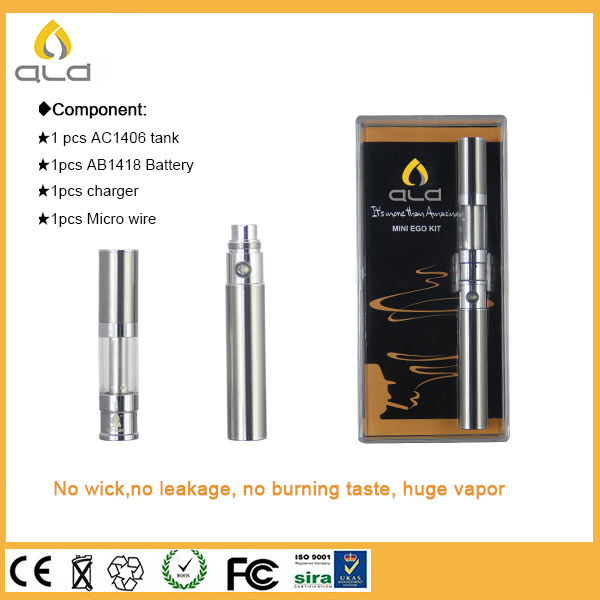 New style ego vaporizer pen carry rechargeable battery 650mAh Ego cartomizer