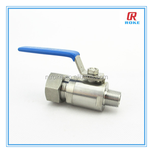 RokeFluid stainless steel 304 high pressure NPT/BSP male threaded end ball valve