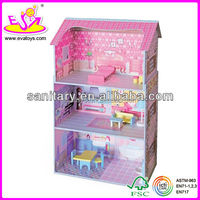 2016 best sale wooden toy doll house for baby W06A018-M29
