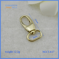 high quanlity zinc alloy snap hook for purse handbag hardware accessory wholesale make in China