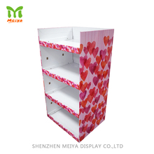 Wholesale Shopping Mall Advertising High Quality Corrugated Paper Cardboard Floor Display Rack Stand For T-Shirt