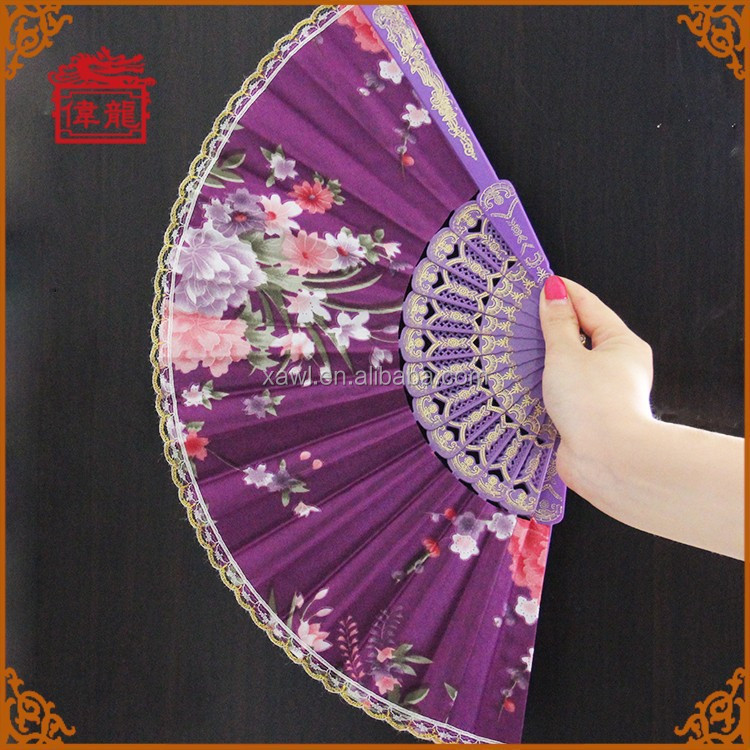 Wedding ceremony programs plastic holder lace hand fans GYS905