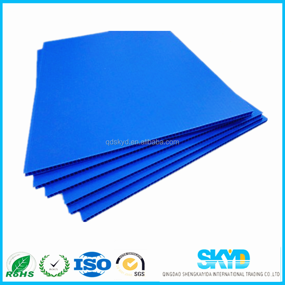 Coroplast pp material corrugated 4x8 sheet plastic