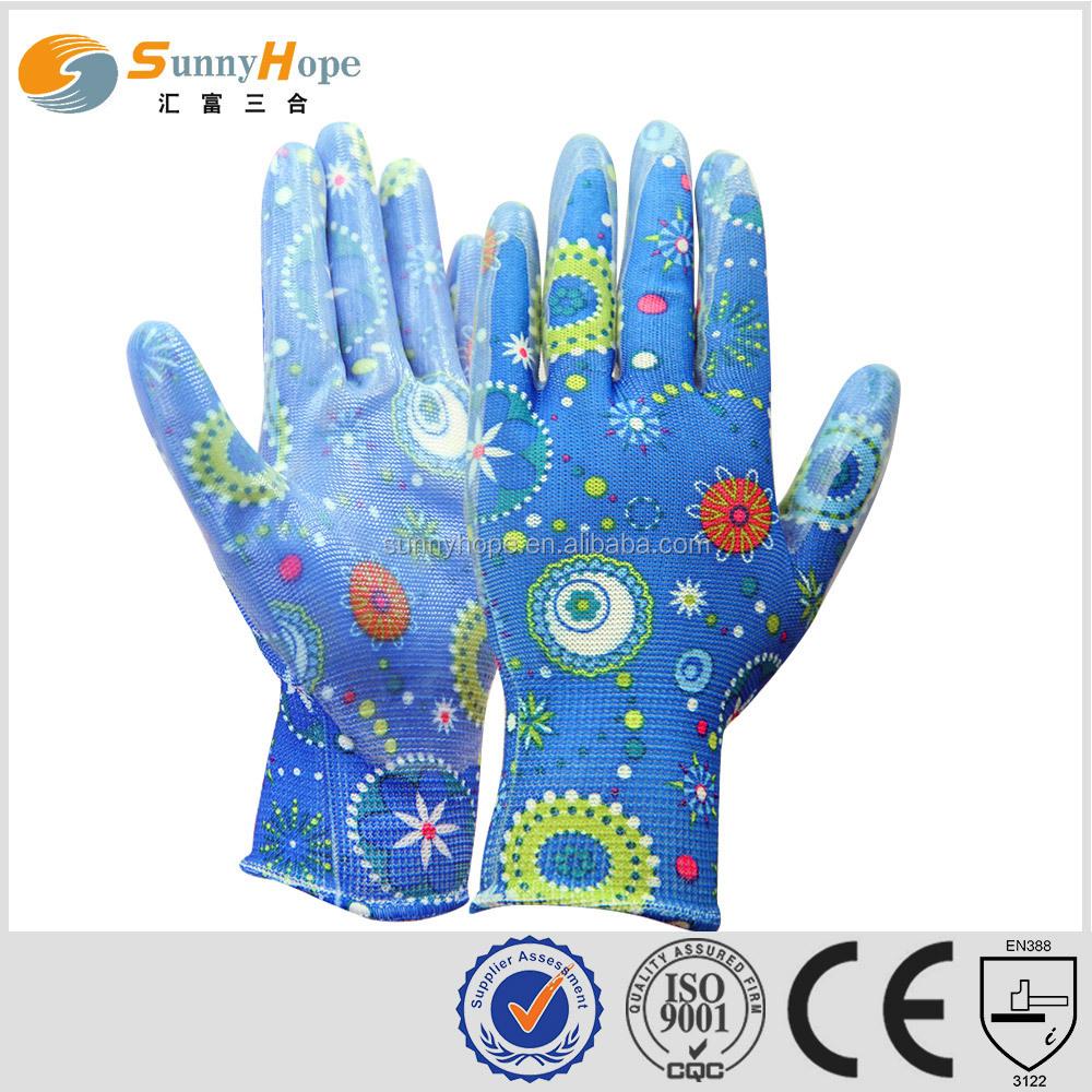 sunnyhope hot sales cute nitirle coated palm hand gloves