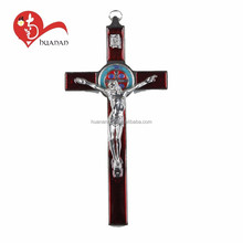 Custom lead free nickel free religious wooden crucifix