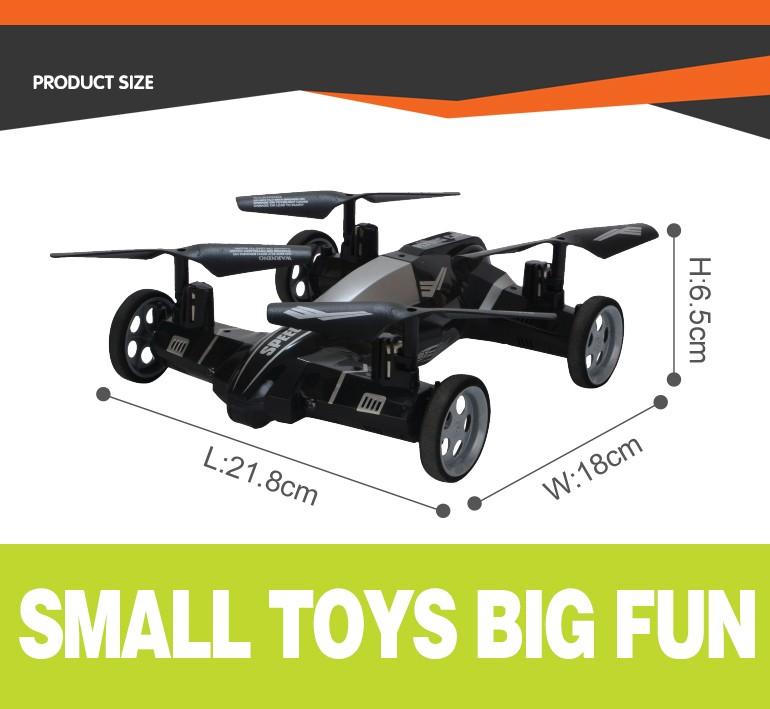China fabricante voando zangão 4ch rc brinquedo carro pequeno com a moda