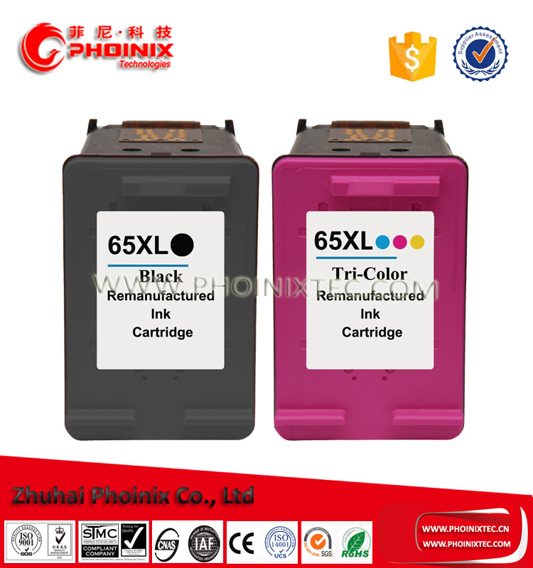 Remanufactured For HP65XL HP65 ink cartridge Replace for HP DeskJet 3722 / 3723 / 3752/ 3755 All-in-One Printer