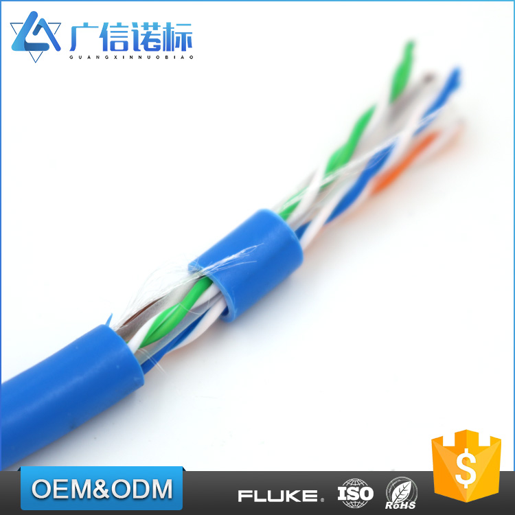 Low resistance Unshielded twisted pair cat6 utp net working cable 305m roll at Competitive price