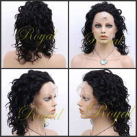 glueless full lace 100% brazilian human hair wig with baby hair