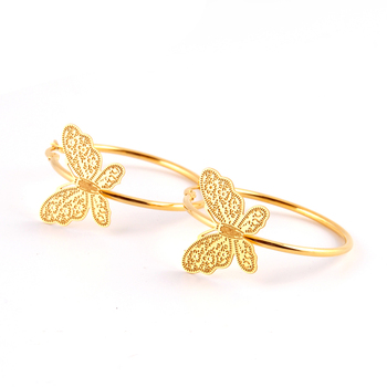 Big Butterfly gold plated fashion hoop earrings