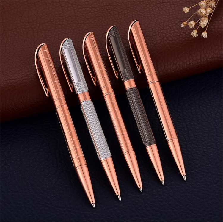 Copper material with rose gold parts metal pen with metal clip