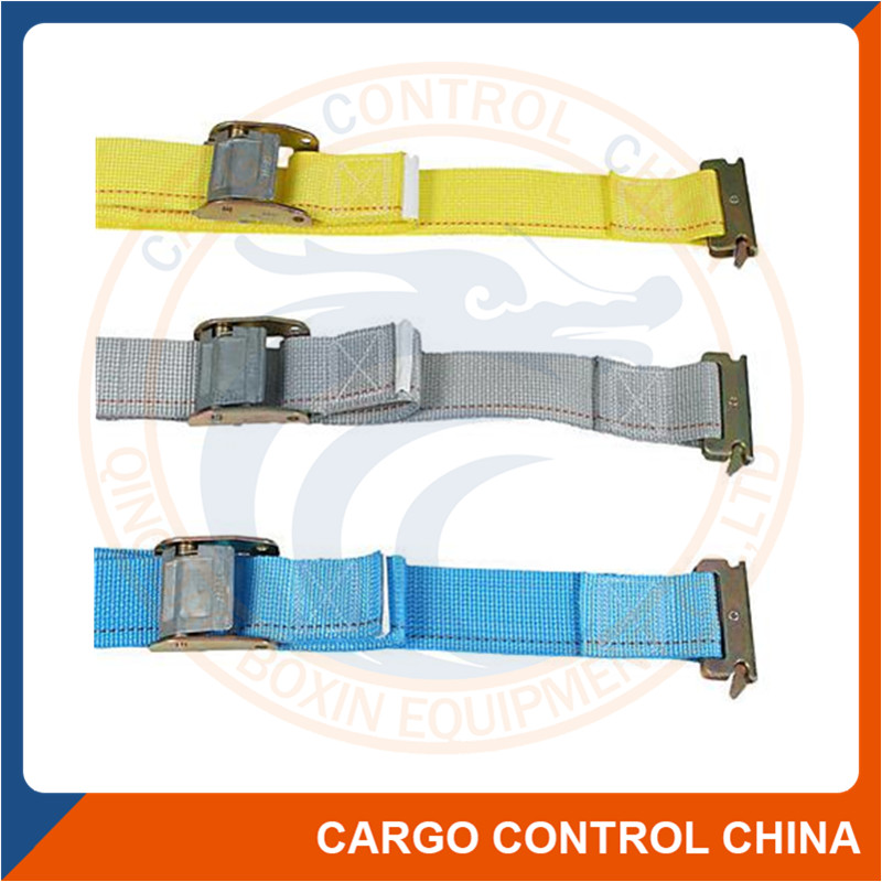7130 E Track cargo lashing tie down strap with steel fitting
