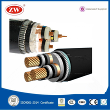 heat water resistant color xlpe PVC 3 core electric power cable