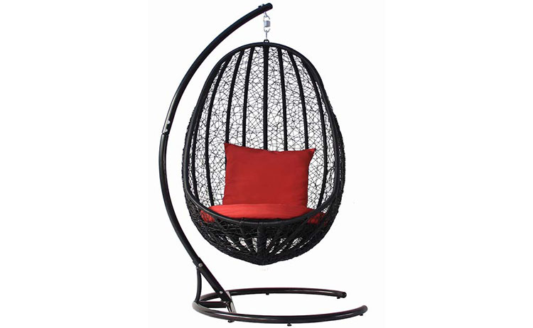 Wholesale outdoor garden patio wicker teardrop swing chair